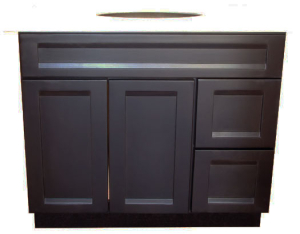 "Java Espresso 36"" vanity with right side drawers"